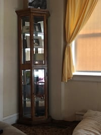 Brown wooden framed glass display cabinet Oaklyn, 08107