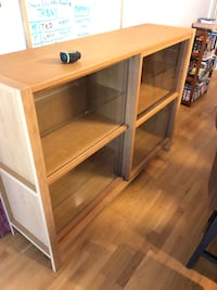 Solid wood buffet with glass sliders 63xx17x46 Toronto, M6H 1A8