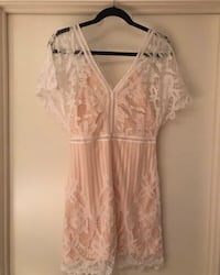 White lace dress never worn tags removed size 6 from boohoo Toronto, M6K 0C2