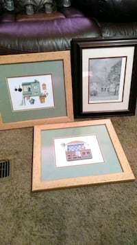 3 pictures and frames Fort Wayne, 46825