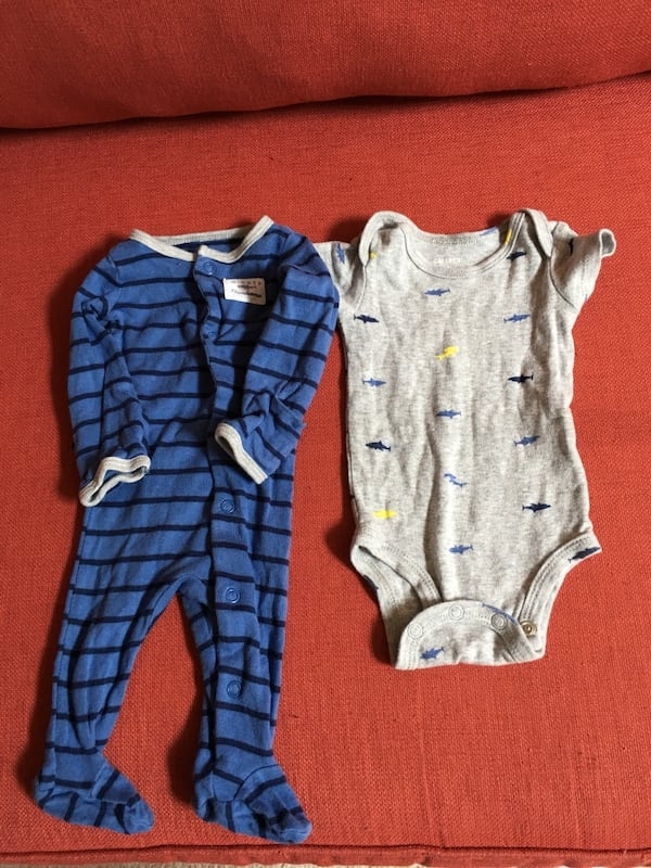 Newborn sleeper and onesie set d48ecf7f-bc59-4bc4-bc0d-6da591a82cc1
