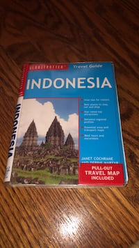 Book - Indonesian travel guide with map