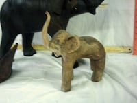 elephants and leather covered glass caraff Franklinton