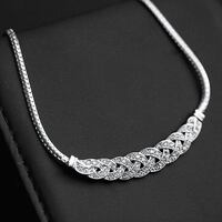 silver chain link necklace with lobster lock Surrey, V4N 6X5