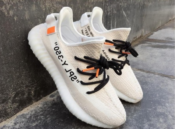 size 40 6380a a3270 Cheap Off-White x adidas Yeezy Boost 350 V2 Customs Creams White