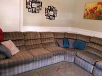 gray and blue sectional couch East Dundee, 60118
