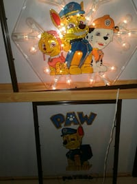 Paw patrol stained glass art