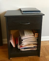 Black wooden 2-drawer nightstand Baltimore, 21218