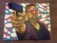 Three big lebowski original paintings  Edmonton, T6L 6M5
