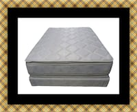 Pillowtop mattress with box spring 46 km