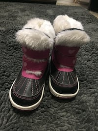 pair of toddler's black-and-pink snow boots Lloydminster (Part), T9V 1G9