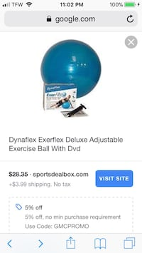 DynaFlex Exercise Ball (as indicated on Box) NEW Never Used Denver, 80216