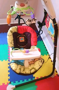 baby's white and black cradle and swing Toronto, M3C 1B5