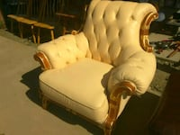white and brown wooden armchair Dinuba, 93618