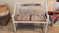 bench shabby chic cottage white