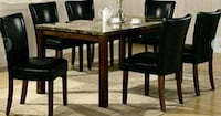 brown wooden dining table with legs.  Las Vegas, 89156