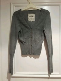 Grey cardigan S/XS V Neck Button up Toronto, M6B 2A2
