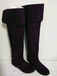 pair of black suede knee-high boots Cocoa