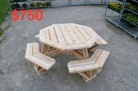 white wooden picnic table set Kitchener, N2A 2R6
