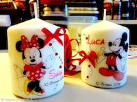 Mickey Mouse et Minnie Mouse bougies