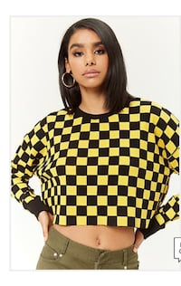 Forever21 waffle knit thermal crop top. Wore once. Size L Chantilly, 20152