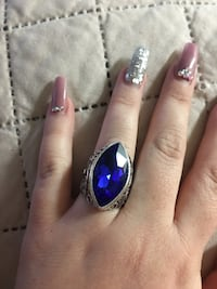 New sz 8 blue sapphire in sterling silver ring  San Antonio, 78227