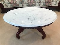 Victorian Cherry Wood Marble Top Tables Sandy, 84094