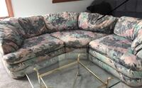 gray and green floral sectional couch Crystal Lake, 60014