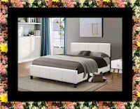 White platform bed with mattress and box District Heights, 20747