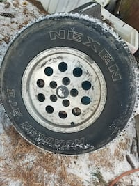 grey car wheel with tire