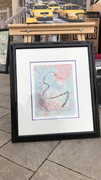 abstract painting with black wooden frame Vaughan, L6A