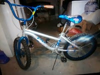 toddler's white and blue bicycle Bridgeport, 06604