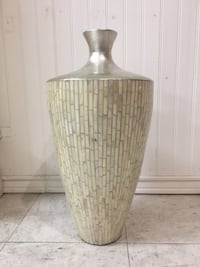 Large Mother Of Pearl Vase Culver City