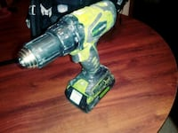 green and black cordless hand drill Addison, 75001