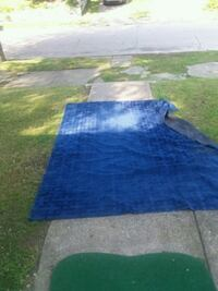 blue and white area rug South Bend, 46613