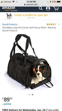 Large dog or cat carrier bag NEW