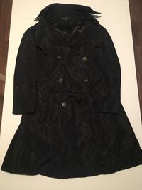 black double-breasted Gucci coat
