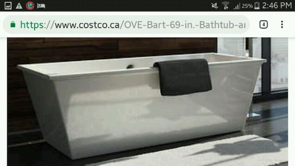Used Freestanding Bath Tub W Infinity Faucet For Sale In Richmond