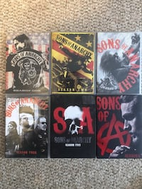 6 seasons of Sons of Anarchy 1-6 Waterloo, N2J 0C3
