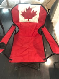 Camping Arm Chair with Canadian Flag.