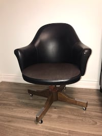 Black leather rolling chair  Vaughan