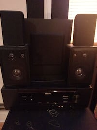 black RCA 6.1 multimedia speaker system Hawthorne, 07506