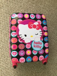 Black&pink hello kitty carry on luggage  Edmonton, T6E 1P1