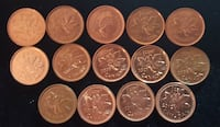 Lot of 17 Canadian Penny Coins 2000-2012 Montreal