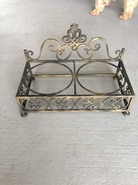 brown metal scrolled wall decor