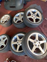 Corvette rims 18 front and 19 rear polished $850 obo Washington, 20001