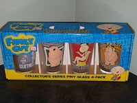 Family Guy Collector's Series Pint Glass 4-Pack Greencastle