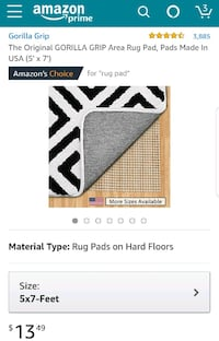 Rug pad for hard floor Falls Church, 22043