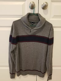 gray and navy sweater QUICK SALE