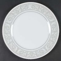 Round white floral set of china, see attached paper with numbers of plates, bowls, and other pieces. Blue Bell, 19422